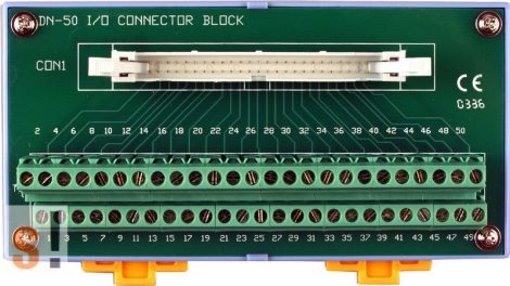 DN-50 CR # Sorkapocs kártya/50 pin/CA-5015 kábel/DIN sínre rögzíthető/ICP CON, ICP DAS