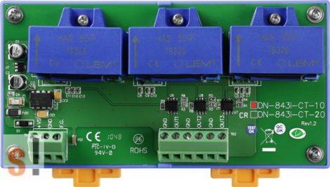 DN-843I-CT-10 # Áramváltó modul/Bemenet/AC/DC/±10 Amper/3 Ch, ICP DAS