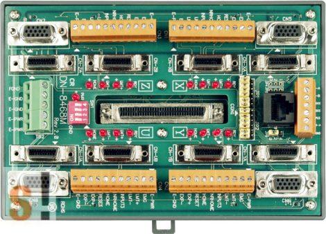 DN-8468MB CR # Bővítő kártya/Daughter Board/PISO-PS400 vagy Mitsubishi MELSERVO-J3/J4/JE sorozatú servo amplifier-hez/vezetékező kártya/snap on/DIN sínre rögzíthető/ICP CON, ICP DAS