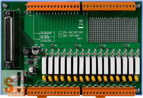 DN-8K16P16R CR # Relé kimenti kártya/16x RO relé kimenet/16x DI digitális bemenet/CA-3710D kábel/ICP CON, ICP DAS