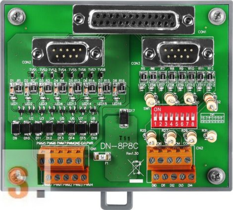 DN-8P8C/S CR # I/O kártya/8x DO digitális kimenet/8x DI Számláló bemenet/DB-8820 kártyával és CA-2520D kábel/ICP CON, ICP DAS