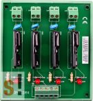 DN-SSR4 CR # Relé modul/4x SSR AC relé/DIN sínre rögzíthető/ICP CON, ICP DAS