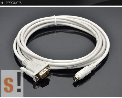 DOP-DVP #  Delta DOP-DVP Programozó kábel/ DOP Touch Panel és  DVP Series PLC kommunikációs kábel/ DOP-XC/ 2 méter/Amsamotion