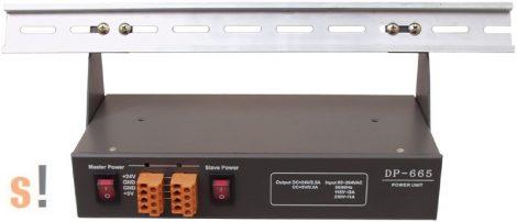 DP-665 # Tápegység/Power Supply 24VDC/2.5A/ 5VDC/0.5A/DIN sínre, ICP DAS, ICP CON