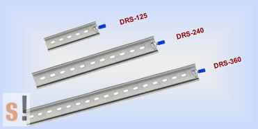 DRS-360 # DIN sín/Kalap sín/35 mm széles/360 mm hosszú/ICP CON, ICP DAS