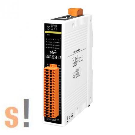 ECAT-2051-32 # I/O Modul/EtherCAT/Slave/32DI/Sink/Source, szigetelt, ICP DAS