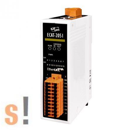 ECAT-2051 # I/O Modul/EtherCAT/Slave/16DI/Sink/Source, szigetelt, ICP DAS