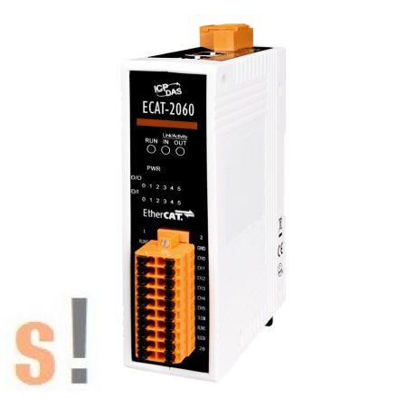 ECAT-2060 # I/O Modul/EtherCAT/Slave/6DI/6DO, relé, szigetelt, ICP DAS