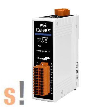 ECAT-2092T CR # EtherCAT enkóder  és számláló I/O modul/ 2x bemenet/2x kimenet/32 bit/4 MHz/CW/CCW /Pulse/Direction/A/B Phase/2Ch Incremental Encoder/ ICP CON, ICP DAS