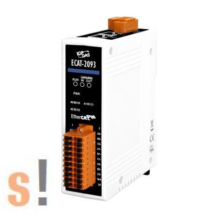 ECAT-2093 CR # EtherCAT enkóder számláló I/O modul/Encoder Counter/3x bemenet/32bit/4MHz/ICP CON, ICP DAS