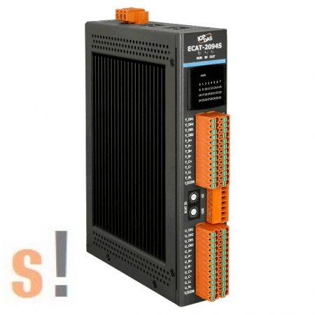ECAT-2094S # EtherCAT léptető motor vezérlés/Stepper motor controller/4 tengelyes/8x DI digitális bemenet/2x DO digitális kimenet/ICP CON/ICP DAS
