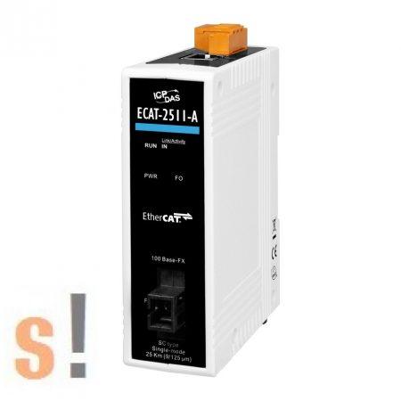 ECAT-2511-A CR # EtherCAT - Single mode Fiber konverter/SC csatlakozó/TX1310/ICP CON, ICP DAS