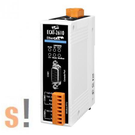 ECAT-2610 CR # Átjáró/Gateway/EtherCAT  slave - Modbus RTU/RS-232/422/485 port/ICP CON, ICP DAS