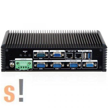 ECW-281BWD-BTI-J1/2GB-R10 # Beágyazott ipari PC/ventilátor mentes/Intel® Celeron® J1900 processzor/3x RS-232 port/1x RS-422/485 port/IEI