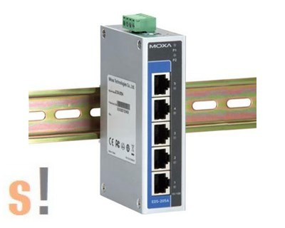 EDS-205A # Ipari Ethernet switch/ 5 port/10/100BaseT(X), MOXA