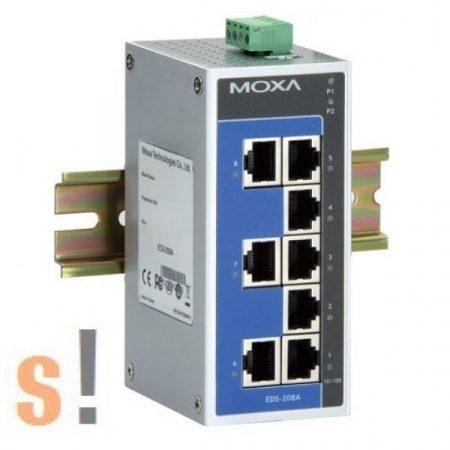 EDS-208A # Ipari Ethernet switch/ 8 port/10/100BaseT(X), MOXA