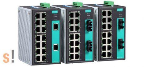 EDS-316 # Ipari Ethernet switch/16 port/10/100Mbps/DIN sínre/ 12/24/48Vdc táp, MOXA