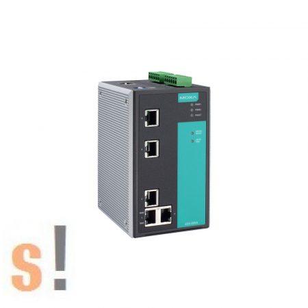 EDS-505A # menedzselt ipari Ethernet switch/5 port/ 5x 10/100BaseT(X)/-10 ~ +60°C/ DIN sínre/ MOXA