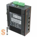 EHG7504-4POE # 4 portos ipari PoE Ethernet switch/ 10/100/1000/PROFINET/Ethernet IP, ATOP