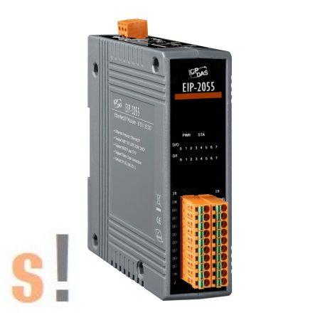 EIP-2055 # I/O Modul/Ethernet/IP/8DI/8DO/szigetelt, ICP DAS