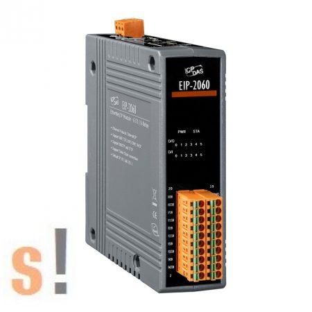 EIP-2060 # I/O Module/Ethernet/IP/6DI/6 Relé/szigetelt, ICP DAS
