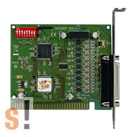 ENCODER300 CR # ISA Enkoder bemeneti kártya/3 tengelyes/Encoder input board/3-axis/CA-PC25M kábel/ICP CON/ICP DAS