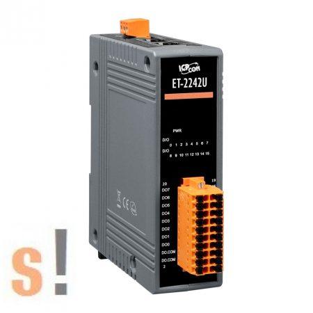 ET-2242U CR # Ethernet I/O modul/Modbus TCP/16x DO digitális kimenet/Push-Pull/2 portos Ethernet switch/ICP CON/ICP DAS