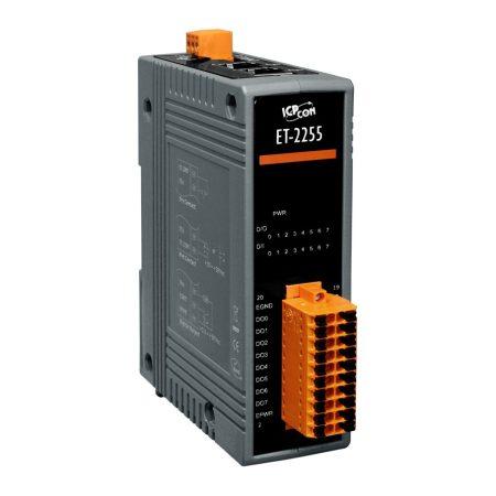 ET-2255 # Ethernet I/O Module/Modbus TCP/8DI/8DO, ICP DAS