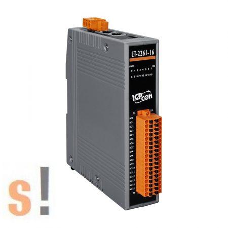 ET-2261-16 CR # Ethernet I/O modul/Modbus TCP/16 RO relé kimenet/2 portos Ethernet switch/ICP CON/ICP DAS