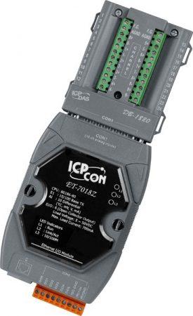 ET-7018Z/S # Ethernet I/O Module/Modbus TCP/10AI/TC/6DO/DB-1820, ICP DAS