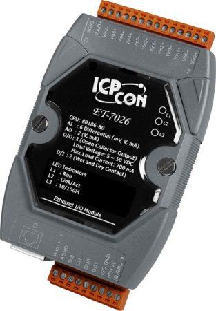 ET-7026 # Ethernet I/O Module/Modbus TCP/6AI/2AO/2DI/2DO, ICP DAS