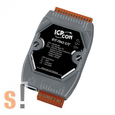 ET-7042-UT CR # Ethernet I/O modul/Modbus TCP/16x DO digitális kimenet/-40C - +75C/ICP CON/ICP DAS