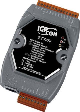 ET-7050 # Ethernet I/O Module/Modbus TCP/12DI/6DO, ICP DAS