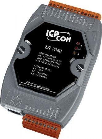ET-7060 # Ethernet I/O Module/Modbus TCP/6 Relay Out/6DI, ICP DAS