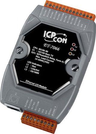 ET-7066 # Ethernet I/O Module/Modbus TCP/8 PhotoMos Output, ICP DAS