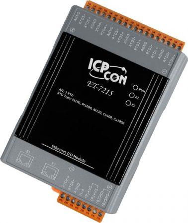 ET-7215 # Ethernet I/O Module/Modbus TCP/7AI/RTD/2LAN, ICP DAS