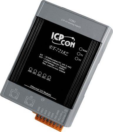 ET-7218Z/S # Ethernet I/O Module/Modbus TCP/10AI/TC/5DO/2LAN/DB-1820, ICP DAS