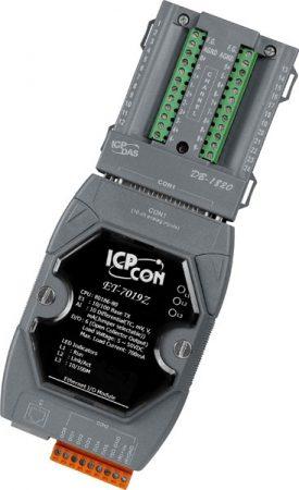 ET-7219Z/S # Ethernet I/O Module/Modbus TCP/10AI/5DO/2LAN/DB-1820, ICP DAS