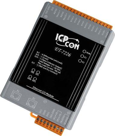 ET-7226 # Ethernet I/O Module/Modbus TCP/6AI/2AO/2DI/2DO/2LAN, ICP DAS