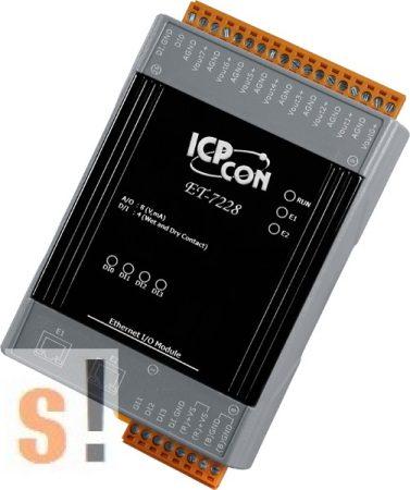ET-7228 # Ethernet I/O Modul/Modbus TCP/8x AO/12bits/2x LAN switch, ICP DAS