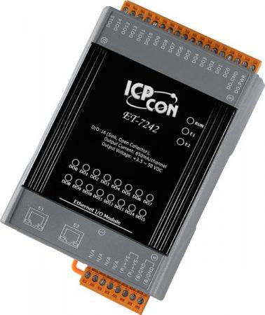 ET-724-UT # Ethernet I/O Module/Modbus TCP/16DO/kiterjesztett hőmérséklet tartomány/-40-+75C/2 portos Ethernet switch/ ICP CON/ICP DAS