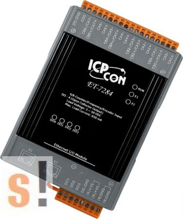 ET-7284 CR # Ethernet I/O modul/Modbus TCP/8 számláló/counter/4x DO digitális kimenet/2 portos Ethernet switch/ICP CON/ICP DAS