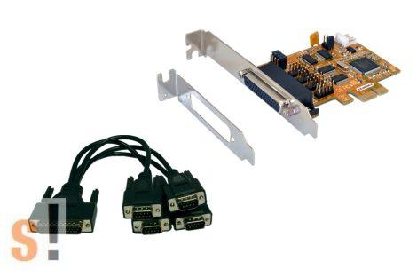 EX-44044-2 # 4x RS-232 portos PCI-E kártya/4x DB9 papa csatlakozó, Exsys