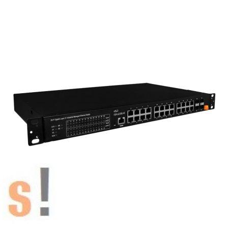 FSM-6228G-AC # 24 portos 10/100/1000Base-T + 4 (100/1G) SFP portos L2 Managed Switch (AC Input), ICP DAS