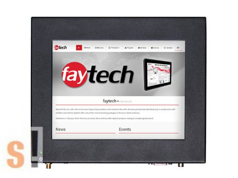 """FT08N2807W2G64G # 8"""" Touch-PC/Érintőképernyős panel pc/rezisztív érintképernyő/Intel Celeron N2807 CPU/2GB RAM/64GB ipari SSD/Win7/8/10, Linux (32Bit, 64Bit) támogatás, FAYTECH"""