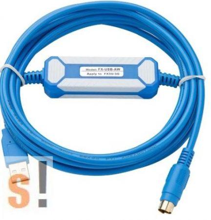 FX-USB-AW #  PLC programozó kábel/MITSUBISHI MELSEC FX3U/FX3G PLC programozó kábel/USB port/RS-422 port/Amsamotion