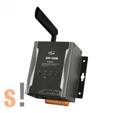 GRP-530M # 3G Gateway/Ethernet port/2x RS-232/1x-RS-485/ WCDMA/GSM, ICP DAS, ICP CON