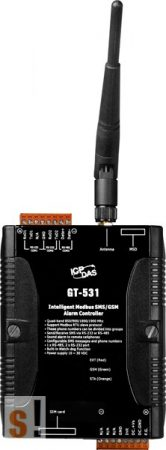 GT-531 # SMS/GSM Controller/Modbus RTU/1x RS-485/2x RS-232, ICP DAS