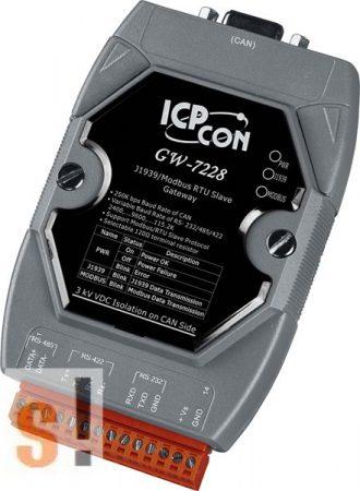 GW-7228 # Átjáró/Gateway/J1939/Modbus RTU Slave/RS-232/RS422/485, ICP DAS
