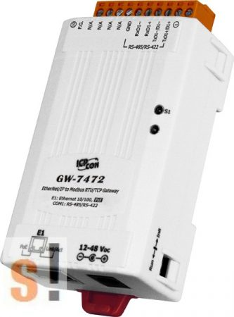 GW-7472 CR # Átjáró/Gateway/EtherNet IP - Modbus TCP/RTU/PoE/RS-422/485, ICP DAS